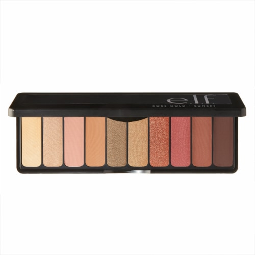 e.l.f. Rose Gold Sunset Eyeshadow Palette Perspective: front