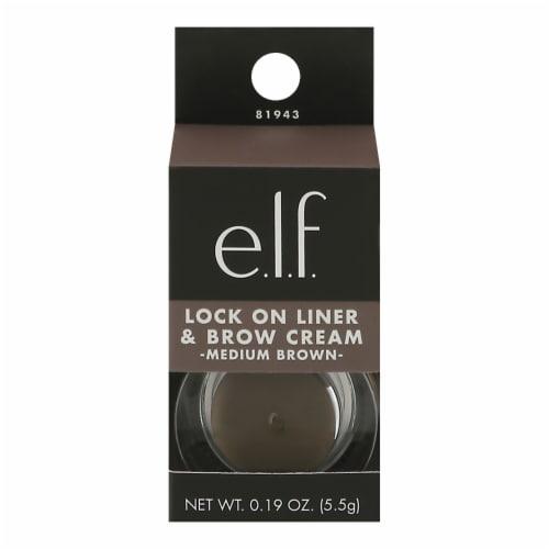 e.l.f. Lock On Medium Brown Eyeliner & Eyebrow Cream Perspective: front