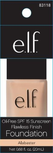 e.l.f. Flawless Finish Alabaster Liquid Foundation SPF 15 Perspective: front