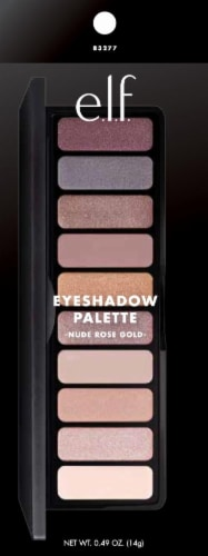 e.l.f. Nude Rose Gold Eyeshadow Palatte Perspective: front