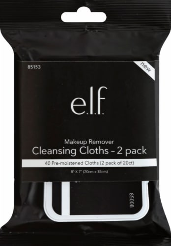 e.l.f. Makeup Remover Cleansing Cloths 2 Pack Perspective: front