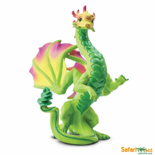 Safari Ltd®  Flower Dragon Toy Figurines Perspective: front