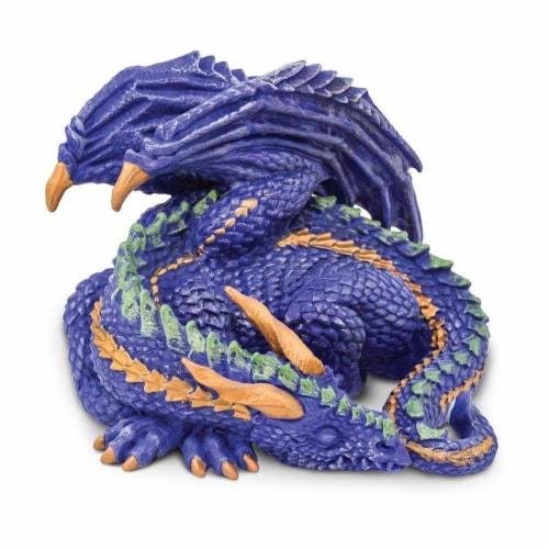 Safari Ltd®  Sleepy Dragon Toy Perspective: front