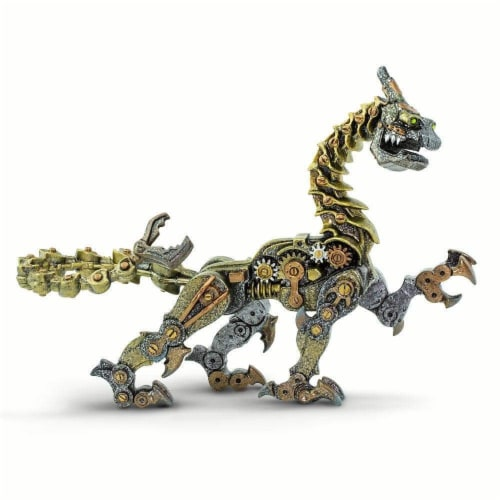 Safari Ltd®  Steampunk Dragon Toy Figurines Perspective: front