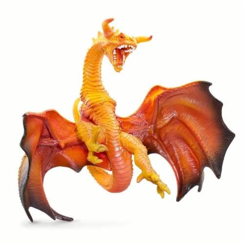 Safari Ltd®  Lava Dragon Toy Figurines Perspective: front