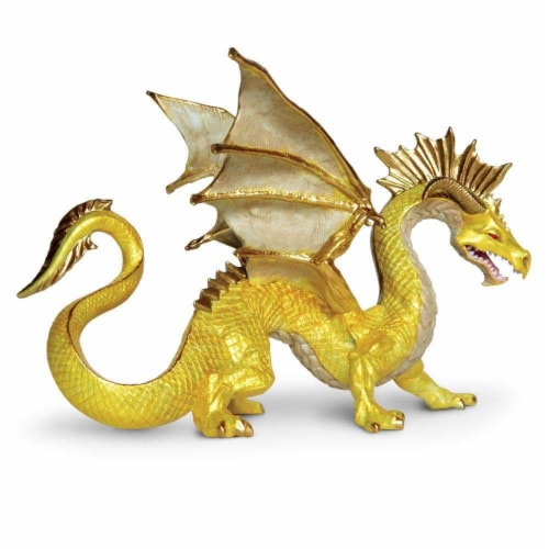 Safari Ltd®  Golden Dragon Toy Figurines Perspective: front