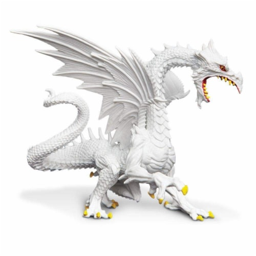 Glow-in-the-Dark Snow Dragon Toy Perspective: front