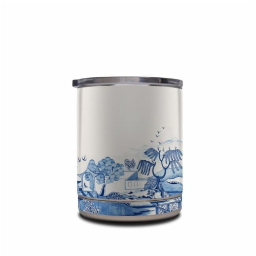 DecalGirl YRL-BLUEWILLOW 10 oz Yeti Rambler Lowball Skin - Blue Willow Perspective: front