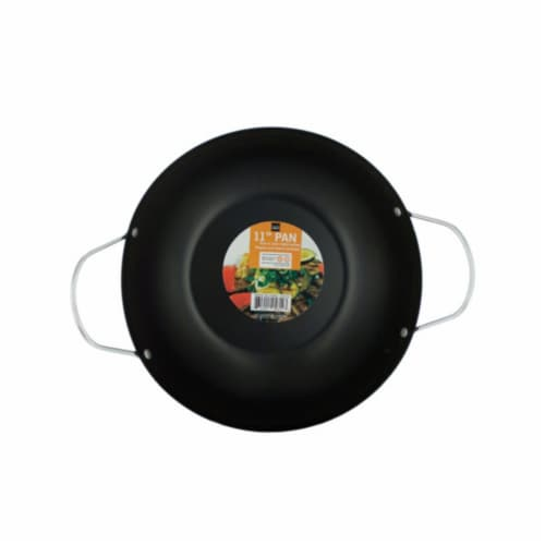 Kole Imports All Purpose Stir Fry Pan with Handles - Pack of 2 Perspective: front