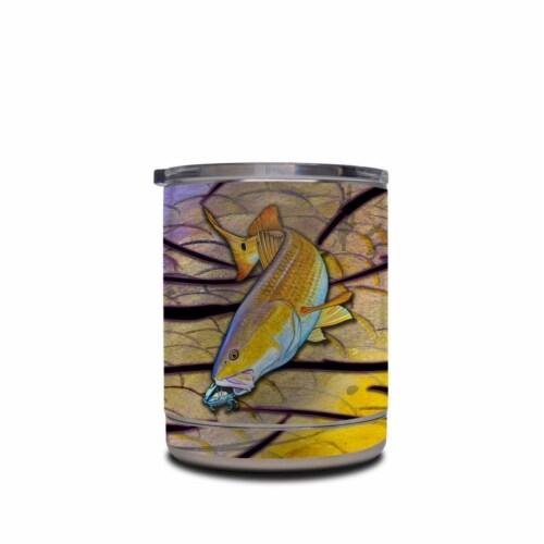 DecalGirl YRL-REDFISH Yeti Rambler 10 oz Lowball Skin - Red Fish Perspective: front