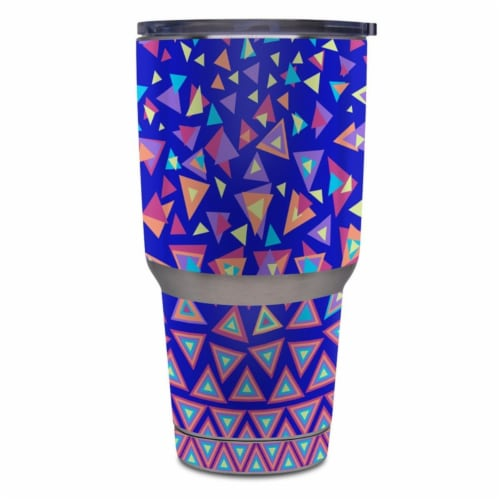 DecalGirl Y30-TRIANGLEDANCE Yeti Rambler 30 oz Tumbler Skin - Triangle Dance Perspective: front