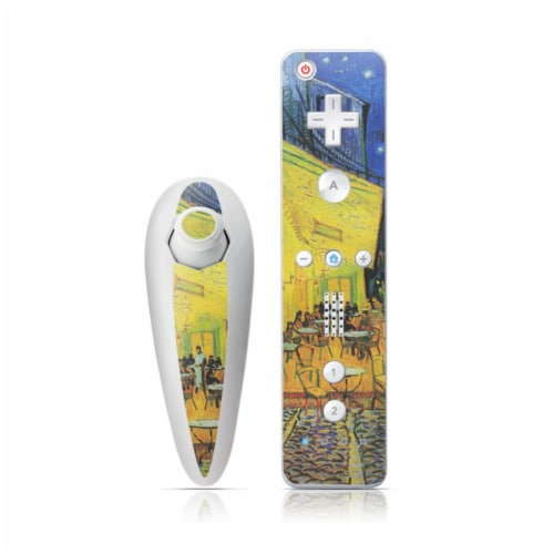 DecalGirl WIINC-VG-CAFETERRACE-NIGHT Wii Nunchuk & Remote Skin - Cafe Terrace At Night Perspective: front