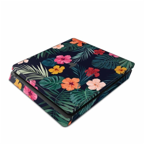 DecalGirl PS4S-TROPHIB Sony PS4 Slim Skin - Tropical Hibiscus Perspective: front
