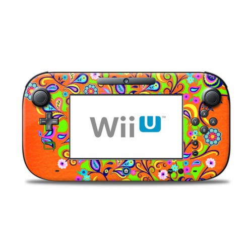 DecalGirl WIIUC-ORNSQUIRT Nintendo Wii U Controller Skin - Orange Squirt Perspective: front