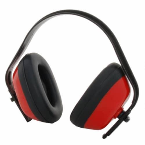 Zenport EM101 Standard Ear Muffs Red Black Perspective: front