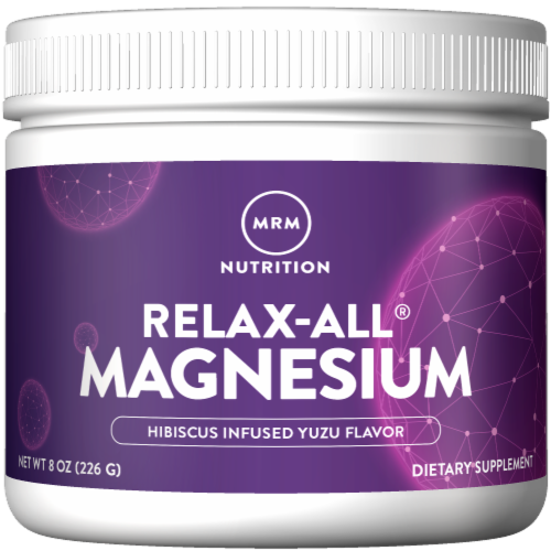 MRM Nutrition Relax-All Magnesium Powder - Yuzu Hibiscus Perspective: front