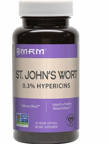 MRM St John's Wort Capsules 450mg Perspective: front