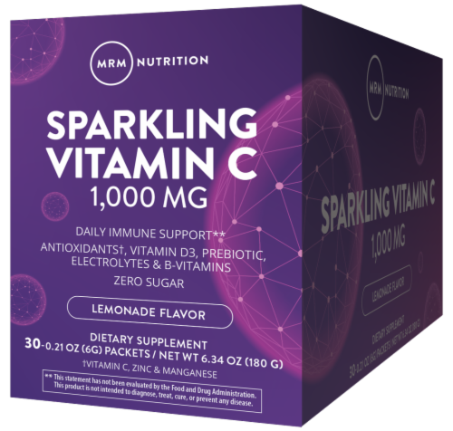 MRM Sparkling Lemonade Vitamin C Packets Perspective: front