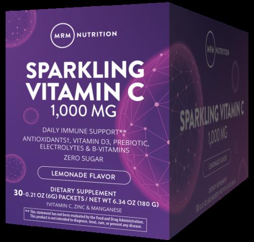 MRM Sparkling Lemonade Vitamin C Packets Perspective: front