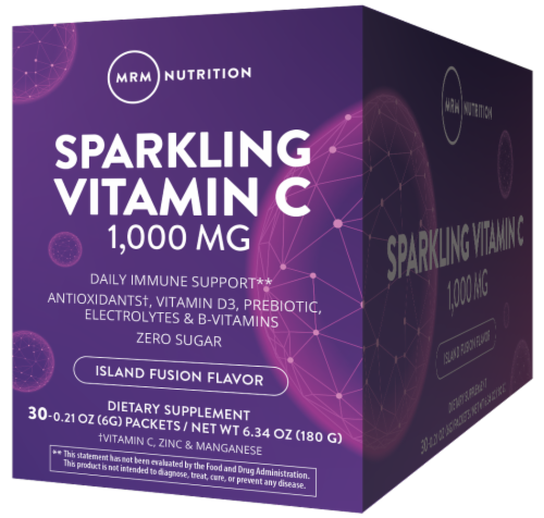 MRM Sparkling Island Fusion Vitamin C Packets Perspective: front