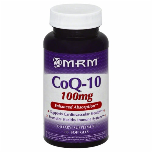 MRM CoQ-10 100mg Softgels Perspective: front