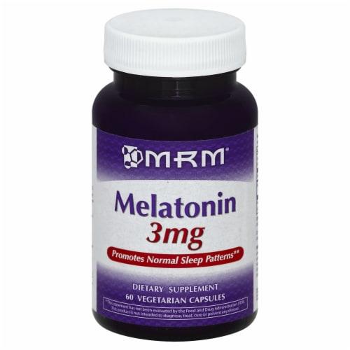 MRM Melatonin Vegetarian Capsules 3 mg Perspective: front