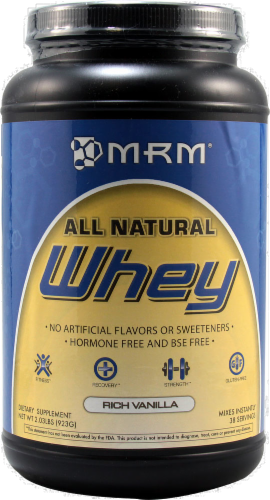 MRM Rich Vanilla Whey Protein Powder Perspective: front