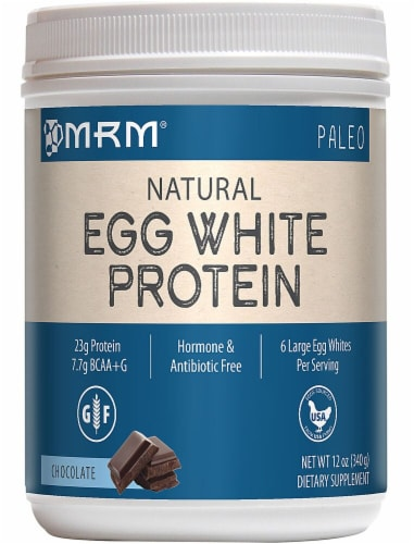 MRM  Natural Egg White Protein   Chocolate Perspective: front