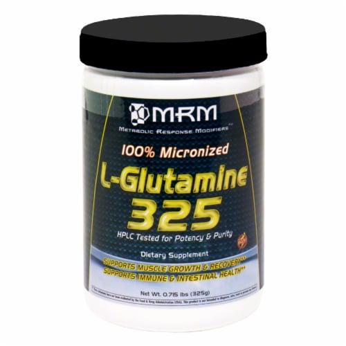 MRM L-Glutamine 325 Perspective: front