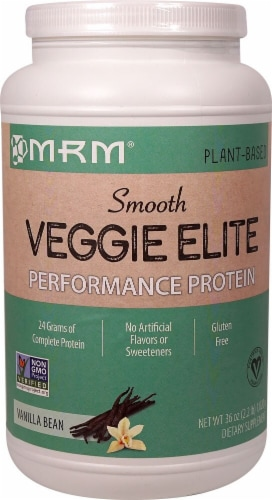 MRM Smooth Veggie Elite Performance Protein - Vanilla Bean Perspective: front