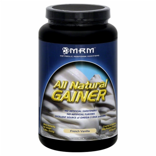 MRM Vanilla All Natural Gainer Powder Perspective: front