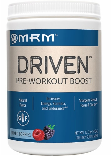 MRM  Driven™ Pre-Workout Boost   Mixed Berries Perspective: front