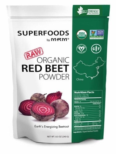 MRM Superfoods Raw Organic Red Beet Powder Perspective: front