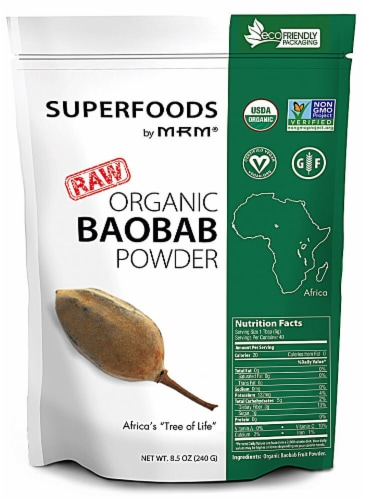 MRM  Superfoods Raw Organic Baobab Powder Perspective: front