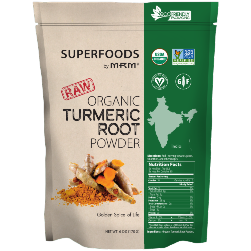 MRM Superfoods Organic Turmeric Root Powder Perspective: front