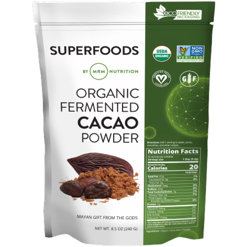 MRM Superfoods Organic Fermented Cacao Powder Perspective: front