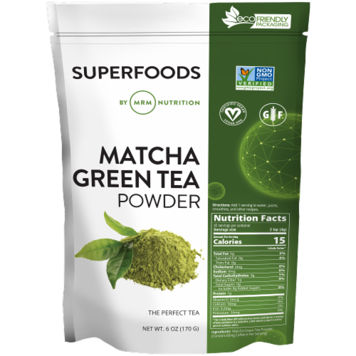 MRM Superfoods Matcha Green Tea Powder Perspective: front