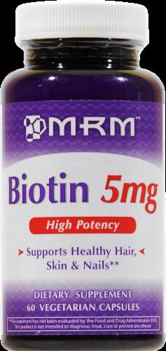 MRM Biotin Vegetarian Capsules 5 mg Perspective: front