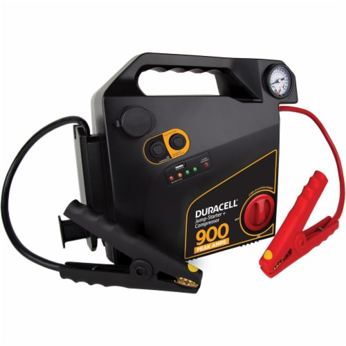 Duracell Portable Emergency Jumpstarter with Air Compressor Perspective: front