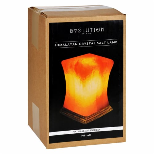 Evolution Salt Crystal Salt Lamp - Pillar - 1 Count Perspective: front