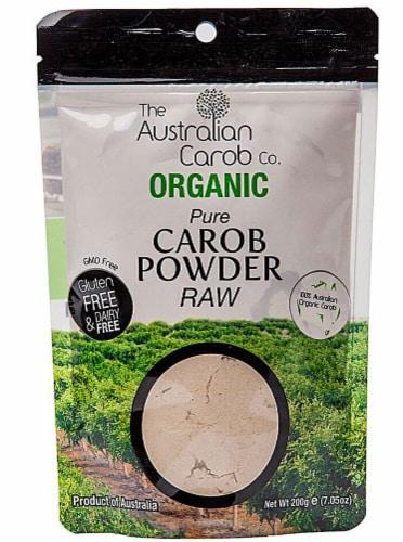 Australian Carob  Organic Carob Powder Raw Perspective: front