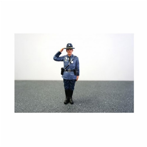 American Diorama 16163 State Trooper Brian Figure for 1-24 Diecast Model Cars Perspective: front