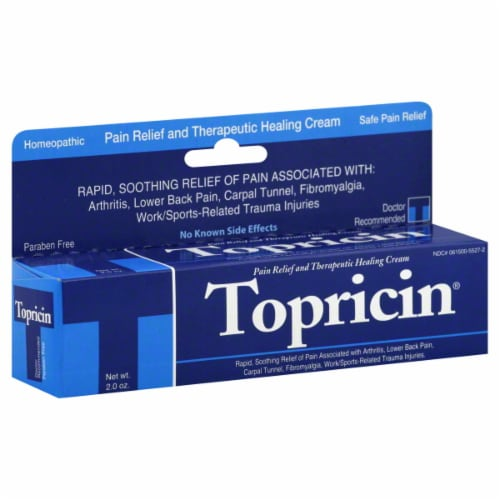 Topricin Pain Relief & Healing Cream Perspective: front