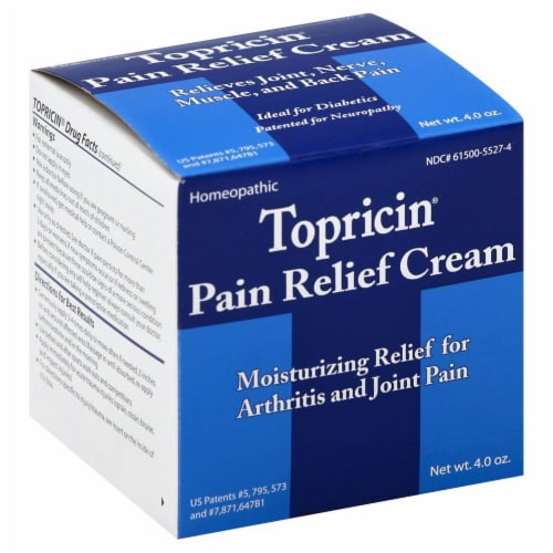 Topricin Pain Relief Cream Perspective: front