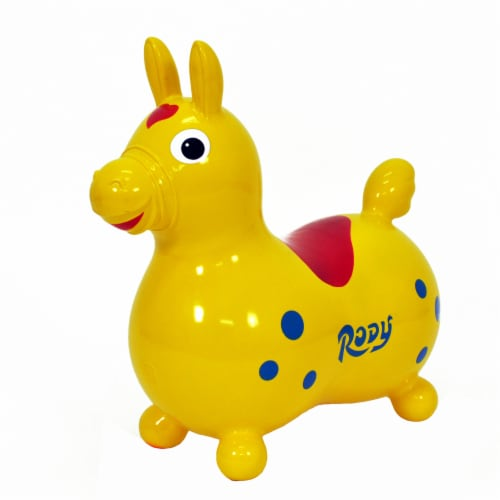 Gymnic Rody Horse Hopper - Yellow Perspective: front