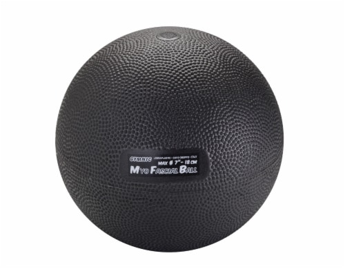 Gymnic Myofascial Exercise Ball - Black Perspective: front