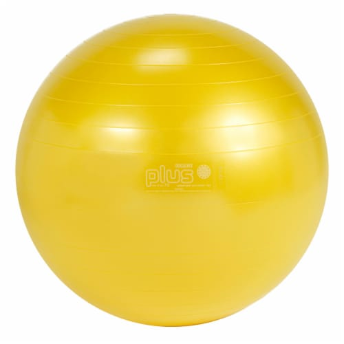 Gymnic Plus Fitness Ball - Yellow Perspective: front