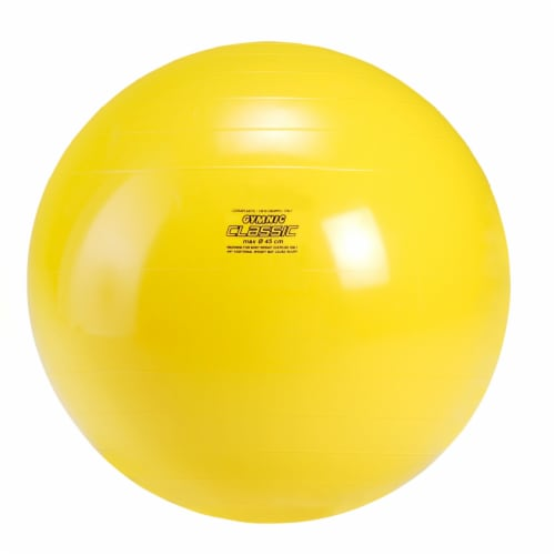 Gymnic Classic Fitness Ball - Yellow Perspective: front