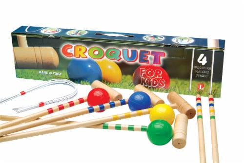Londero Four Player Children's Croquet Set Perspective: front