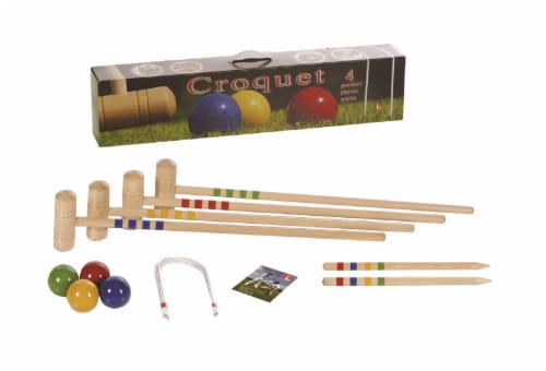 Londero 4 Player Croquet Set Perspective: front